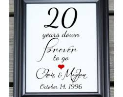 20th wedding anniversary gifts 20th anniversary gift for husband or for 20th wedding