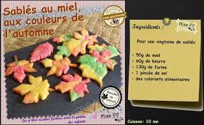recette cuisine automne sables au miel aux couleurs de l automne pour les enfants