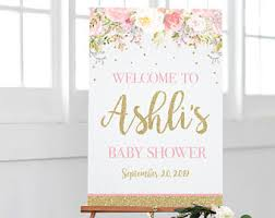 customized baby items baby shower signs etsy