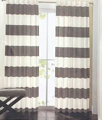 Whote Curtains Inspiration Perfect White And Gray Striped Curtains Inspiration With Striped