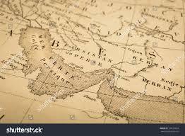 Map Of Persian Gulf Antique Map World Persian Gulf Strait Stock Photo 334120634
