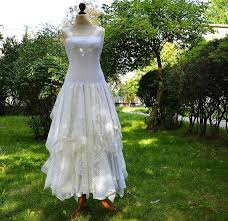 upcycled wedding dress fairy tattered dress upcycled