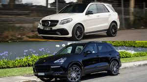 porsche cayenne turbo vs turbo s 2016 mercedes amg gle 63 s vs 2016 porsche cayenne turbo s