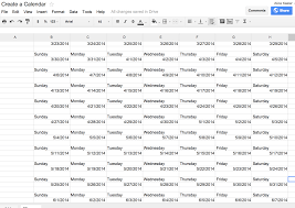 Google Spreadsheet Quick Easy And Amazing Make A Calendar In Google Spreadsheet