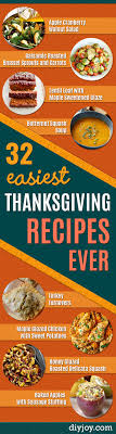 32 easiest thanksgiving recipes diy