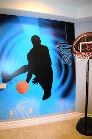 103 best basketball inspiration images on pinterest basketball a teen boy s basketball bedroom using magic murals searching for moments
