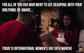Womens Day Meme - international women s day deadpool scene gif meme thanksgiving