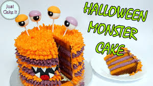 Halloween Monster Cake by Monster Halloween Cake Collaboration With Pinch Of Luck Youtube