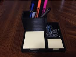 Post It Desk Organizer Post It Note Caddy And Desk Organizer By Joereed Thingiverse