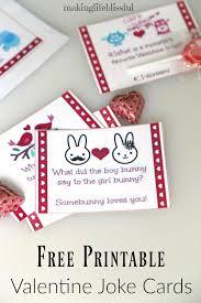 printable valentine bingo and valentine joke cards making life
