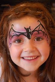 bat facepaint little girls google search halloween