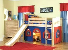 Bunk Bed With Slide And Tent Bunk Beds With Slide Apartments Stylized Loft Bed With Slide Bunk