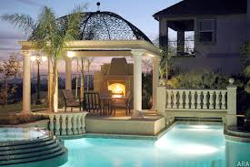 pool patio ideas patio with a nice view pool and warm fireplace