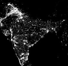 World Map At Night by Nasa Earth On Twitter