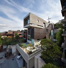 natural design of the the modern duplex house with underground large modern the modern duplex house with underground garage that provide large space to storange your interior design