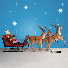 170 wide santa sleigh three reindeer set