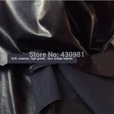 cuero por metro vendido por metro negro pu de cuero de imitaci祿n para coser piel de