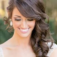front view of side swept hairstyles long wedding hairstyles side swept wedding hairstyle