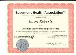 Basement Waterproofing Specialists - basement waterproofing awards u0026 certifications everdry