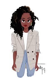 beautiful cartoon women art www nichollekobi com dessins afro pinterest illustrations