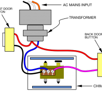 doorbell wiring diagram two chimes 1 button system separate wire