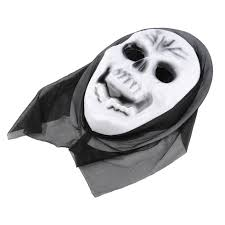 white halloween mask scary ghost mask scream halloween grimace mask fancy party props