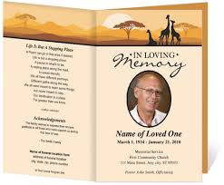 funeral program template card for funeral programs funeral programs templates