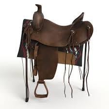 Horse Saddle by 3d Western Saddle Cgtrader