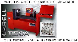 ornamental bar working machines scrolls bar twisting baskets