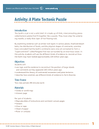 activity a plate tectonic puzzle american museum of natural history