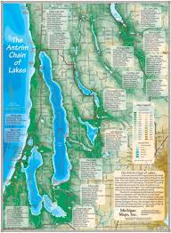 Map Of Michigan Lakes by Elk Lake