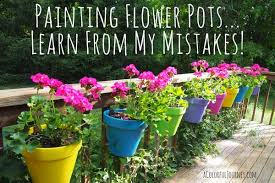 Flower Pots - painting flower pots learn from my mistakes