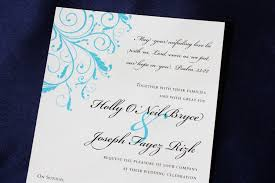 quotes to put on wedding invitations turquoise blue leafy swirl wedding invitations emdotzee designs