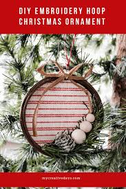 diy embroidery hoop ornament my creative days