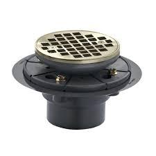 kohler round design tile in shower drain in vibrant brushed nickel