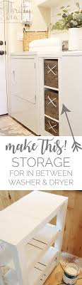 Laundry Room Storage Between Washer And Dryer Thrifty And Chic Diy Projects And Home Decor
