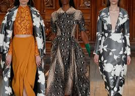 A W Upholstery London Fashion Week Autumn Winter 2014 2015 Print Highlights
