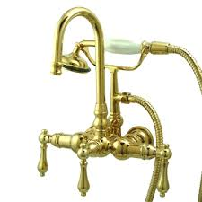 Polished Brass Bathtub Faucets Wall Mount Clawfoot Tub Faucet U2013 Seoandcompany Co
