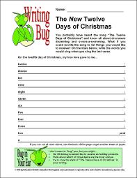 education world writing bug the new twelve days of christmas