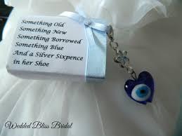 something blue wedding wedding bouquet charm evil eye talisman something blue