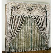luxury european style floral patterns silver shabby chic curtains
