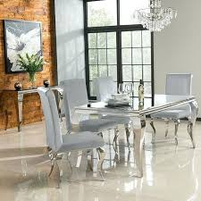 danette metallic platinum rectangular dining room set from coaster