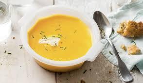 cuisiner courge butternut soupe courge butternut crème fraîche ciboulette surgelés les
