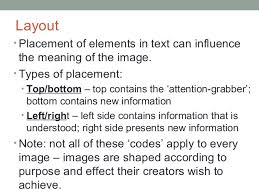 visual layout meaning visual text comprehension