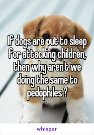 put dog to sleep dogs are put to sleep for attacking children then why aren t we