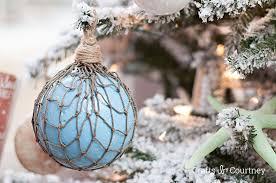 faux glass floats coastal diy ornament