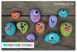 Crafts For Kids For Halloween - monster rocks featured in kids crafts 1 2 3 yesterday on tuesday