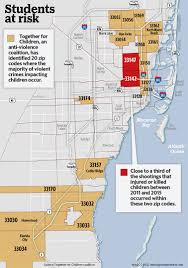 Miami Dade Zip Code Map by A Year After Death Of King Carter 6 Youth Gun Violence Continues