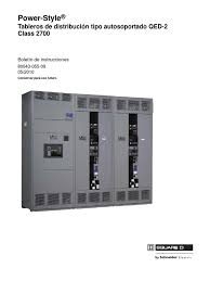 power style tableros de distribución autosoportado qed 2