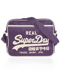 alumni bags mens alumni bag in purple superdry